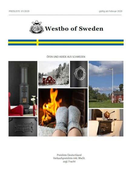 Westbo Preisliste 2020 DE Cover